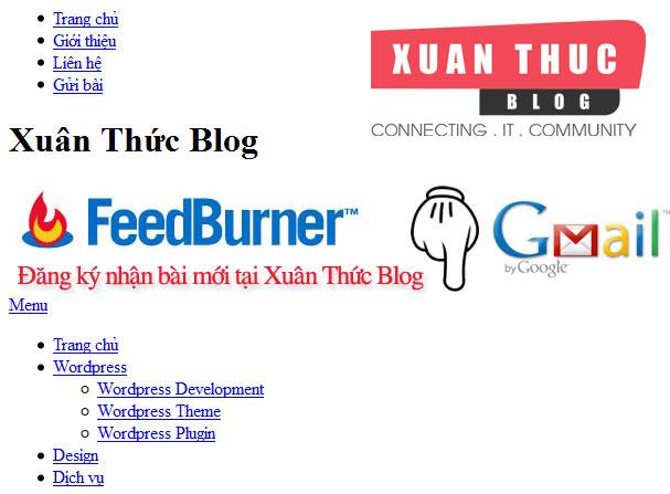 Tạo Theme WordPress 2: Dựng trang HTML cho Trang Web