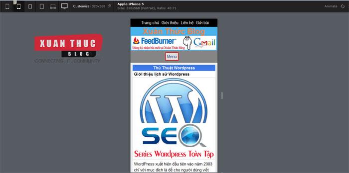 Tạo Theme WordPress 4: Viết CSS cho giao diện Mobile