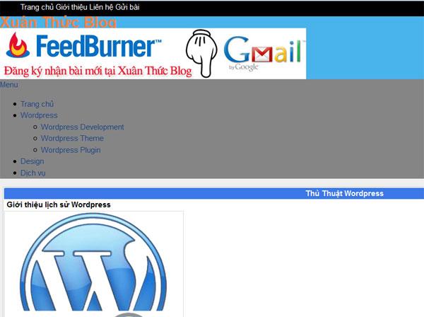 Tạo Theme WordPress 3: Viết CSS thành phần chính cho HTML